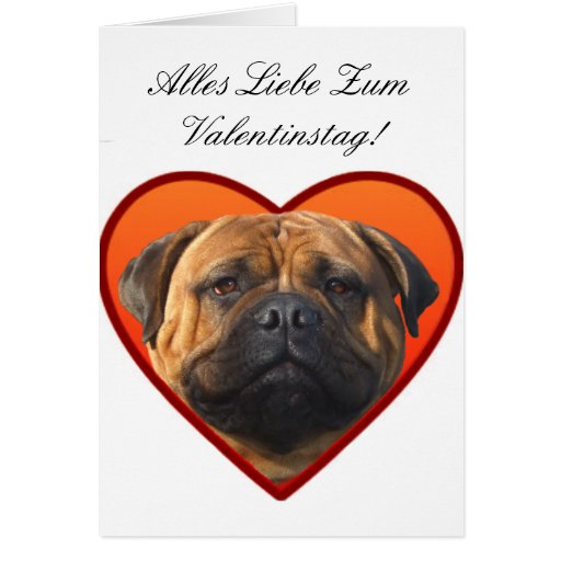 Alles Liebe zum Valentinstag bullmastiff card