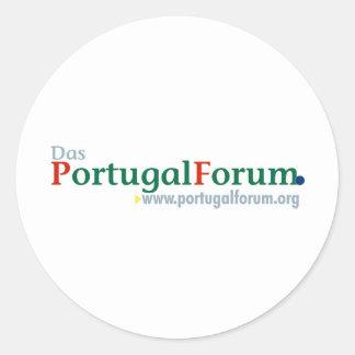Alles zum PortugalForum Classic Round Sticker