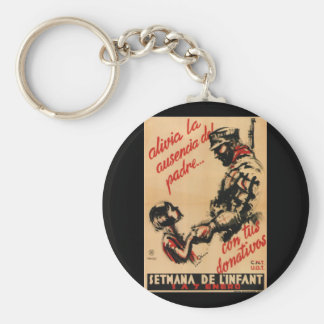 Alleviate the father's absence_Propaganda Poster Basic Round Button Keychain