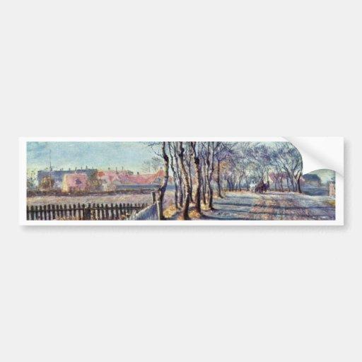 Alley At Kastrup By Philipsen Theodor Esbern Bumper Stickers