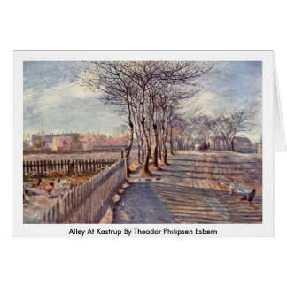 Alley At Kastrup By Theodor Philipsen Esbern Greeting Card