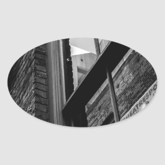 Alley Atmosphere Oval Sticker