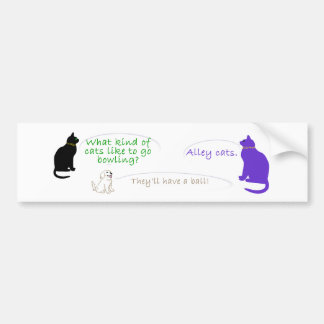 Alley Cat Bumper Sticker