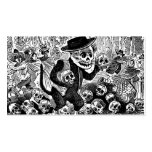 Alley Cat Calavera c. early 1900's Mexico. Double-Sided Standard Business Cards (Pack Of 100)