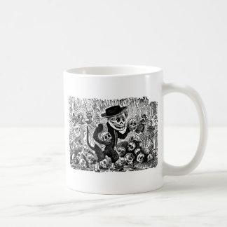 Alley Cat Calavera c. early 1900's Mexico. Classic White Coffee Mug