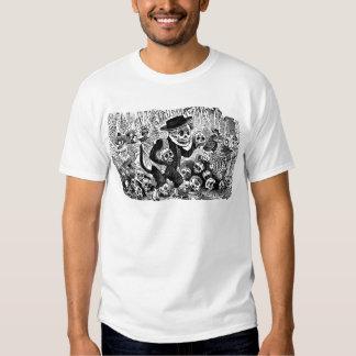 Alley Cat Calavera c. early 1900's Mexico. Tee Shirt