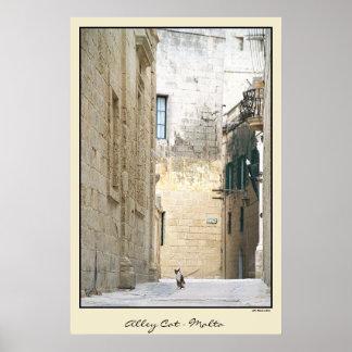Alley Cat - Malta Poster