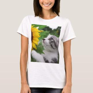 Alley cat niyan good fortune< Sunflower > T-Shirt