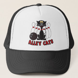 Alley Cats Bowling Pin | Humor Trucker Hat