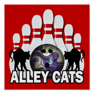 Alley Cats Print