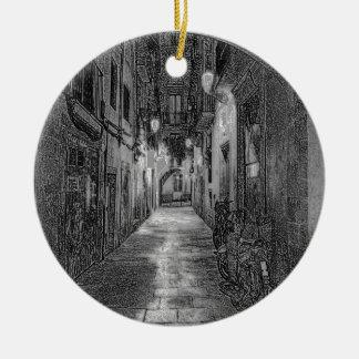 Alley Ceramic Ornament