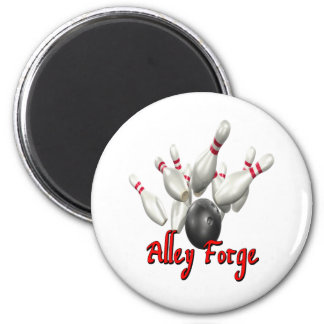 Alley Forge Bowling Shirt Fridge Magnets