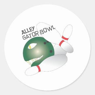 Alley Gator Bowl.ai Classic Round Sticker
