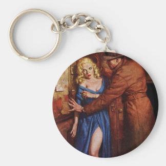 Alley Girl Basic Round Button Keychain