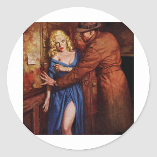 Alley Girl Classic Round Sticker