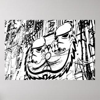 Alley Graffiti Print