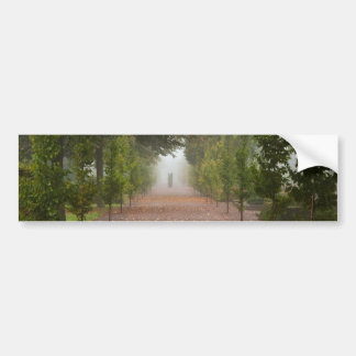 Alley in fog bumper sticker