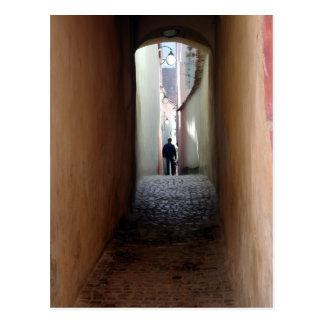 Alley in Romania Postcard