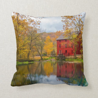Alley Mill And Spring Throw Pillow