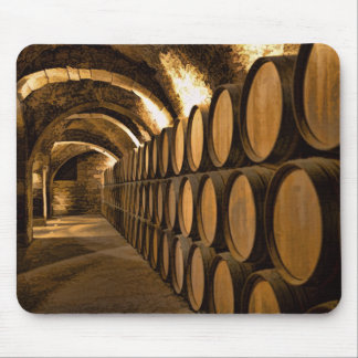 Alley of Barrels at the Winery Mouse Pad