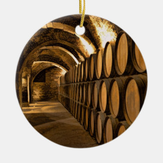 Alley of Barrels at the Winery Ornaments
