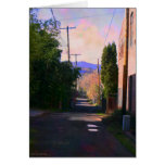 Alley With Puddles Greeting Card