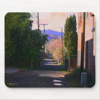 Alley With Puddles Mouse Pad