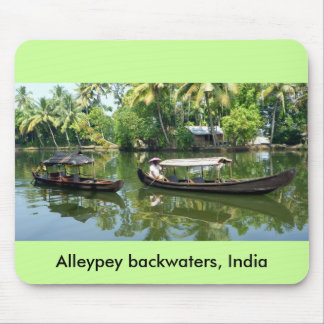 Alleypey backwaters, india mouse pad