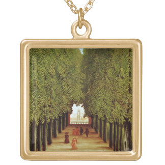 Alleyway in the Park of Saint-Cloud, 1908 (oil on Square Pendant Necklace