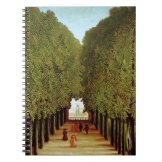 Alleyway in the Park of Saint-Cloud, 1908 (oil on Notebook