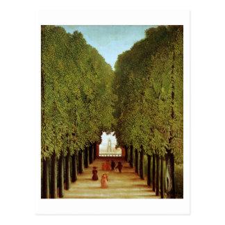 Alleyway in the Park of Saint-Cloud, 1908 (oil on Postcard