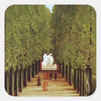 Alleyway in the Park of Saint-Cloud, 1908 (oil on Sticker