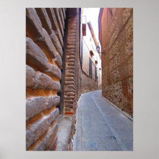 Alleyway in Toledo, Spain Poster