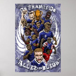 Allez Les Bleus France football champions poster