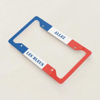 Allez Les Bleus French Sports Fan License Plate Frame