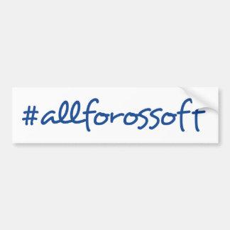 #AllForOssoff Blue Text Bumper Sticker