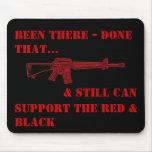 Allí hecho que, rojo y negro - cojín de ratón M-16 Alfombrillas De Raton