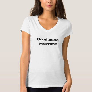 "Alli Speed ""Good Hello!"" shirt"