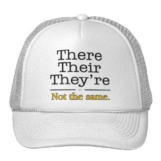 Allí, su y son gorras de camionero