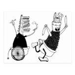 Alli y rabino tarjeta postal