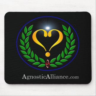 Alliance agnóstico - cojín de ratón (negro) tapete de ratones