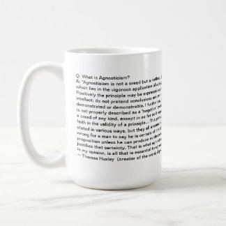 Alliance agnóstico - definición del agnosticismo - taza básica blanca