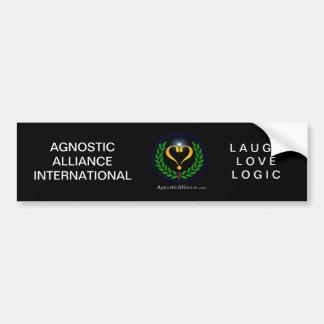 Alliance agnóstico - pegatina para el parachoques, pegatina para auto