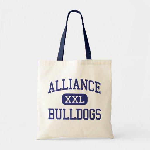 Alliance - Bulldogs - High - Alliance Nebraska Tote Bags