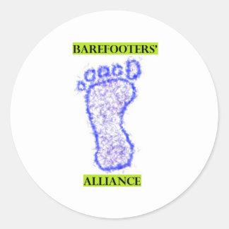 Alliance de Barefooters Etiquetas Redondas