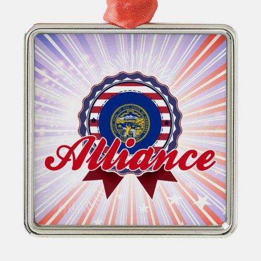 Alliance, NE Adorno Navideño Cuadrado De Metal