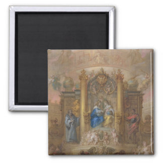 Alliance of France and Spain 2 Inch Square Magnet