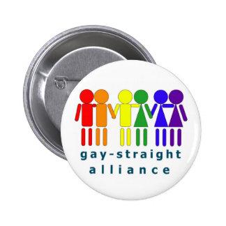 Alliance recto gay abotona pin redondo de 2 pulgadas