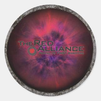 Alliance rojo Merch Etiqueta Redonda