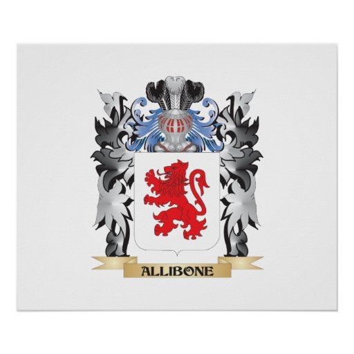 Allibone Coat of Arms - Family Crest Poster